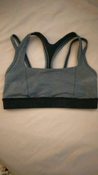 black and gray lululemon sports bra size 4 Toronto, M5J 1S8