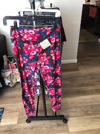 black, pink, and blue floral pants Warren, 48088
