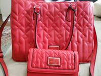 Guess red purse with wallet Ajax