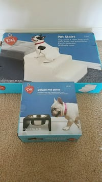 New in box Pet Stairs and Pet diner bowl- both $15 Rockville