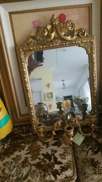brown wooden framed wall mirror Montreal, H3R 3L4