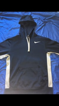 black and white Nike pullover hoodie