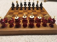 Hand Carved Ox Bone antique chess set Akron, 44305