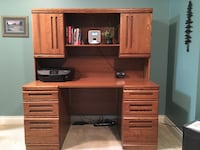 brown wooden desk with hutch Anmore, V3H