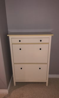 Wall mounted cabinet/shoe hutch