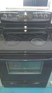 Kenmore all black glass top