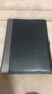 Black leather padfolio Washington, 20012