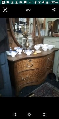 Antique children's vanity / dresser