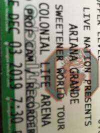 2 TICKETS TO SEE ARIANA GRANDE