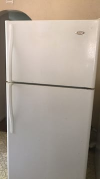 White top-mount refrigerator (new door gasket, eva White top-mount refrigerator (new door gasket, evaporator and relay switch) best offer porator and relay switch) best offer Dallas, 75229