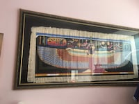 Original Egyptian papyrus in magnificent Arab frame Toronto, M4Y 1A5