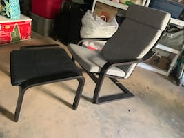 Chair for lounge with foot rest