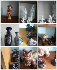 assorted ceramic figurines photo collage