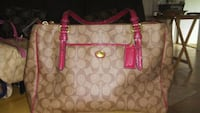 Large Leather Coach Authentic Englewood