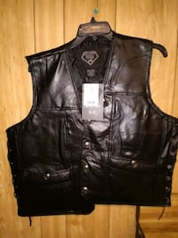 Motorcycle Vest (leather) Theodore, 36582