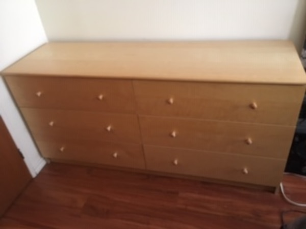 pine wooden 6-drawer dresser