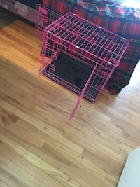 red and white metal pet cage Riverview, E1B 2K4
