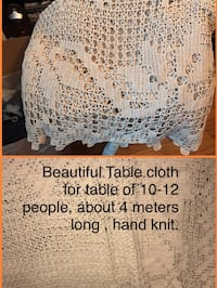 Beautiful hand knitted  table cover Montréal, H1R 2K3