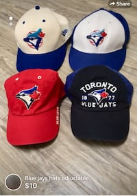 Blue jays hats adjustable-10$ each  London, N5W 6E3