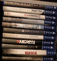 PS4 games all in like new condition! Rancho Cucamonga, 91730