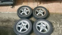 """15"""" wheels with tires 4x114.3 Surrey, V3S 5X7"""
