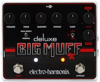 Deluxe Big Muff Pi Fuzz w _EXPRESSION PEDAL_ & pwr supply FREDERICK