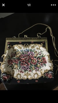 Vintage 1950's Tapestry Clutch Purse Temescal, 92883