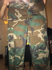 green, brown, and black camouflage pants Compton, 90222
