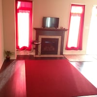 Red Area Rug AND Red Curtains - Make An Offer Ottawa, K2J