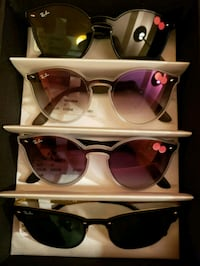 black sunglasses with black frames collage Vancouver, V6B 2J7