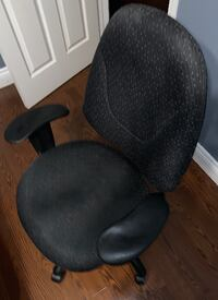 Black Fabric Office Chair - Excellent Condition 534 km