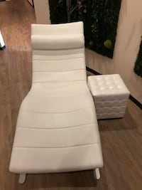 Modern White Leather Lounger Vienna, 22031