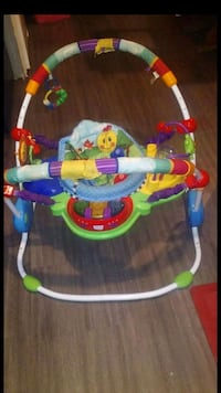baby's blue, green, and red jumperoo Kyle, 78640