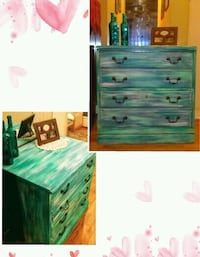 green and white wooden dresser Mesquite, 75149