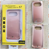 Phone case charger for a Samsung S7 or Edge Rockland