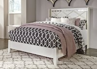 Champagne Queen Panel Bed-U&U Home Budget Furniture Rahway