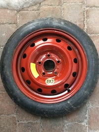 red bullet hole car wheel with tire Châteauguay, J6K