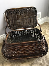 Wicker Picnic Basket,  brand new