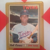 Twins Rod Carew 2nd base trading cards
