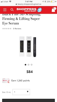 Korres Black Pine 3D Sculpting, Firming & Lifting Super Eye Serum Burnaby, V5E 1R7
