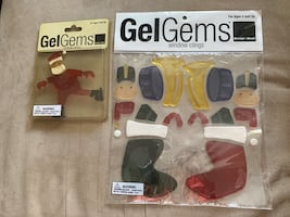 Christmas gem gels window clings