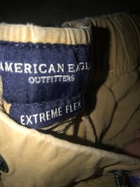 3 pairs of american eagle khaki men's joggers size small lightly worn Blakely, 18452