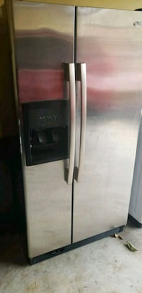 silver side-by-side refrigerator with dispenser Alexandria, 22314