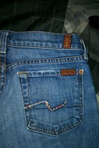 7. jeans brand name pants size 25