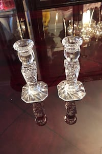 Crystal candle holders perfect for the holidays