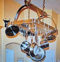 Large Stainless Steel Hanging Pot Rack 30x20x16
