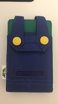 Luigi blue and green leather Nintendo DS case