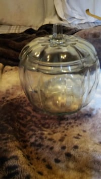 Glass pumpkin candy jar Springfield, 49037
