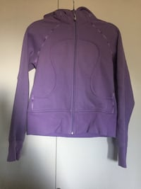 Purple zip-up sweater Lululemon size 8