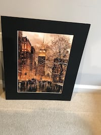 Three cityscapes mounted, ready to frame. $8 each Brookhaven, 11953